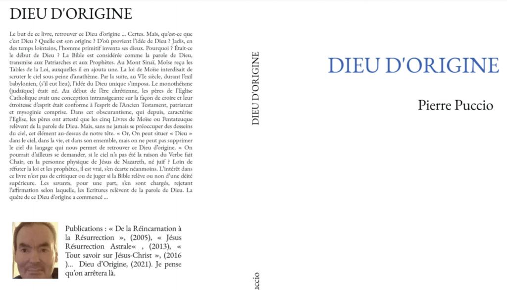 DIEU D'ORIGINE Pierre Puccio