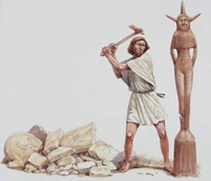 Destruction de toutes les Asherahs
